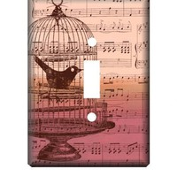 Single Switch Plate Cover Sing To Me | charmingladies3 - Housewares on ArtFire