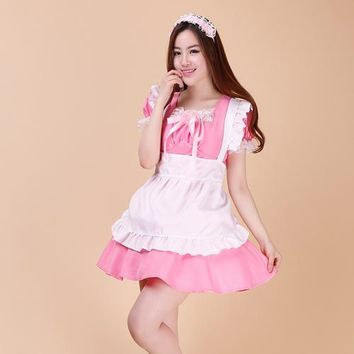 Shanghai Story 8 style anime maid cosplay for women lolita princess girl dress set for Halloween party Game Show costumes