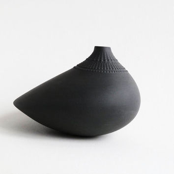 Etsy Transaction -          Reserved - Black Pollo Vase - Wirkkala for Rosenthal