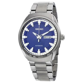Seiko Recraft Automatic Blue Dial Stainless Steel Mens Watch SNKN41