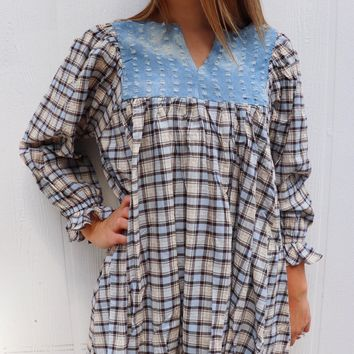 Denim Peasant Tunic