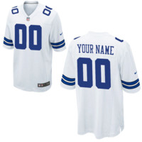 DCCK Dallas Cowboys Jersey - Men's White Custom Game Jersey