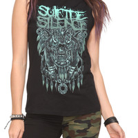 Suicide Silence Skull Slash Sleeveless Girls T-Shirt | Hot Topic