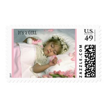 Customizable Baby Birth Announcement Postage Stamp