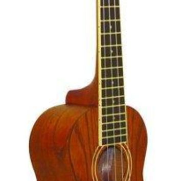 O. Schmidt Tenor Elect Spalted Maple Uke