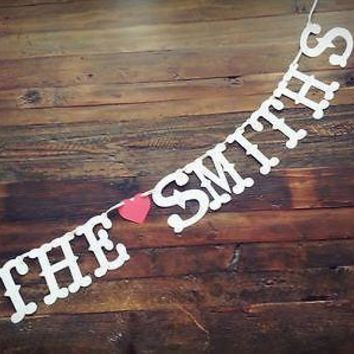 Personalized Custom Monogram Banner Valentine's Day Wedding Save the Date Photo Prop