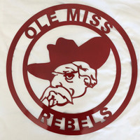 Ole Miss Wall Art red, rebels custom design