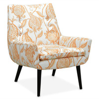 mrs godfrey chair in tuileries tangerine