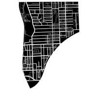 Riverdale Map - Toronto Neighbourhood Art Print