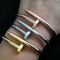 Cartier exquisite fashion personality nail bracelet F
