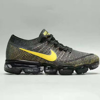 """NIKE""Vapor Max  Fashion Men Running Sport Casual Steam Steam Cushion Woven Shoes Sneakers Black G-A50-XYZ"