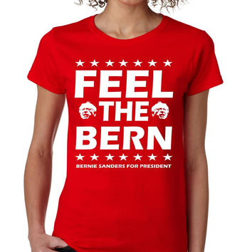 Feel the bern Bernie Sanders for president t-shirt