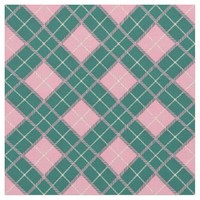 Cotton Candy Green Plaid Pattern Fabric