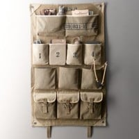 Distressed Canvas Wall Storage