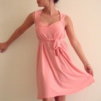 Pink Dress Sweetheart Peachy Pink a line Dress with a by onor