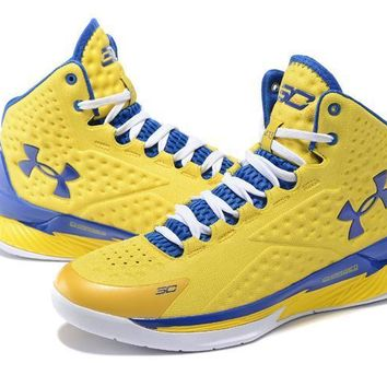 Under Armour Curry Yellow /Blue Basketball Shoes