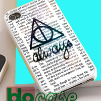 Always Harry Potter For Iphone 4/4s, iPhone 5/5s, iPhone 5C, iphone 6, and iPhone 6 Plus Case
