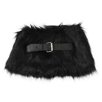 Women Faux Fur Scarf Collar Adjustable Belt Closure Fluffy Vintage Elegant Soft Neckerchief Scarves Ladies Neck Wrap SM6