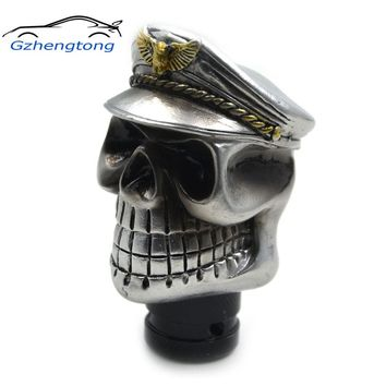Car Skull Devils Police Head Shifter Knob Auto Shift Knob Car Gear Shift Knob