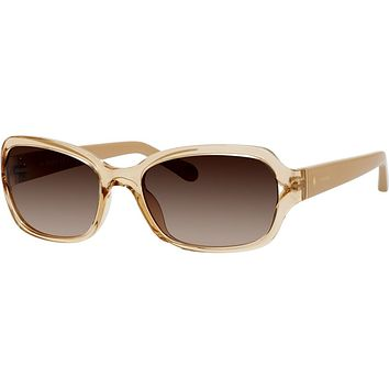Fossil - 3021  Nude Crystal  Sunglasses / Warm Brown Gradient  Lenses