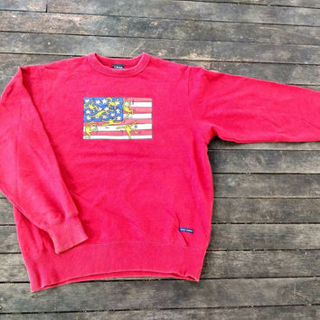 Keith Haring sweatshirt USA flag vintage Andy warhol Keith urban art by Vintageartbachok