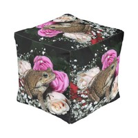Cane toad in flowers pouf