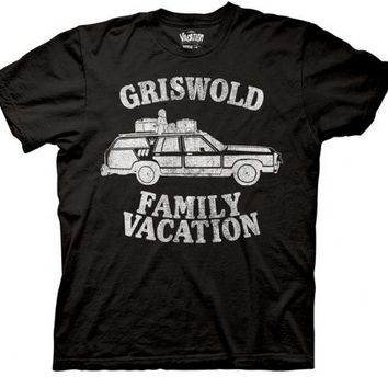 Christmas Vacation Griswold Family Vacation Adult Black T-shirt - National Lampoon's Christmas Vacation - | TV Store Online