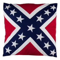 "Rebel Flag 24""x24"" Accent Pillow"