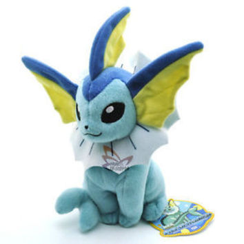 "7.5"" VAPOREON Pokemon Rare Soft Plush"
