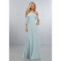 Morilee Bridesmaids 21551 Boho Off The Shoulder Bridesmaid Dress