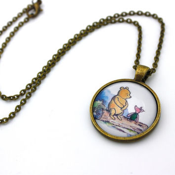 Winnie the Pooh, Classic Pooh & Piglet Necklace