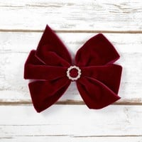Velvet hair bows at Your Final Touch Hair Accessories. FREE shipping on orders over $25