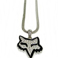 Fox Silver Iced Necklace