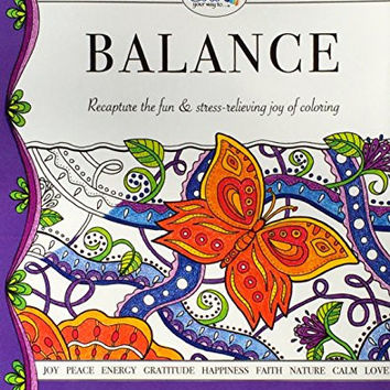 Color Your Way to Balance Adult Coloring Book Pages - Thick High Quality Loose Pages - USA Made - 100% Money Back Guarantee - Fun & Stress-relieving Colouring - Best for Watercolors, Markers, Pencils