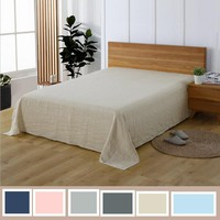 Multicolor Linen Bedding 100% Pure Linen Flat Sheet 1 Piece Washed With Good Handfeeling