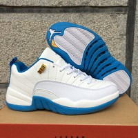 Air Jordan 12 Retro Low AJ 12 North Carolina Women Basketball Shoes