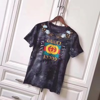 cc hcxx gucci grey flower t shirt