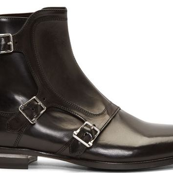 Wakeby Wolf Finesse Tri-Buckle Monk Boot