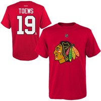 Reebok Jonathan Toews Chicago Blackhawks Youth Player Name & Number T-Shirt - Red