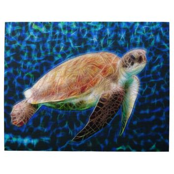 Sea Turtle on Blue Background Honu Jigsaw Puzzle