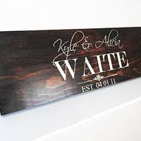 Rustic Five Year Anniversary gift for Girlfriend-Boyfriend-Husband- Wedding Sign- Fifth Wood Anniversary Gift for Men - Women .sign#187