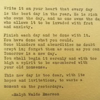 RALPH WALDO EMERSON Famous Quote  Hand Typed Typewriter Quote Made with Vintage Typewriter Ralph Waldo Emerson Quote