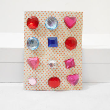 12 Bejeweled Thumbtacks for Memo Boards, Girls Bedroom