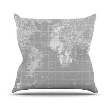 "Catherine Holcombe ""The Olde World"" Throw Pillow"