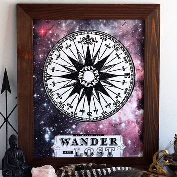 Not All Those Who Wander Are Lost - Limited Edition Hand Printed Silkscreen Print/Poster - Hero Design Studio