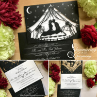 Glamping Festival Wedding Invite - Shimmering Ceremony