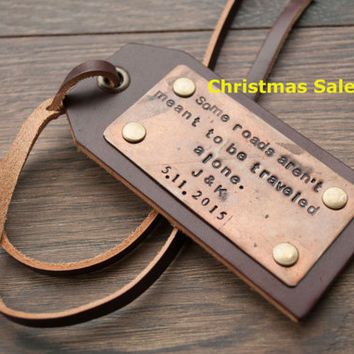Shop Personalized Leather Luggage Tags on Wanelo