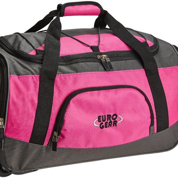 Multipocket Rolling Carry On Duffle Bag