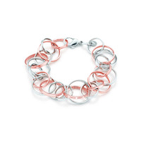 Tiffany & Co. - Tiffany 1837™ interlocking circles bracelet in RUBEDO® metal and silver, medium.