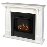 Real Flame, Ashley 48 in. Electric Fireplace in White, 7100E-W at The Home Depot - Mobile